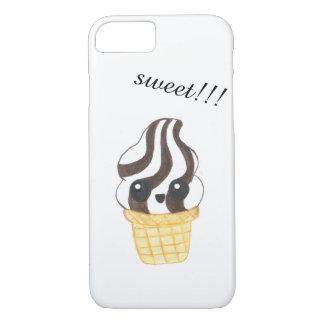 Capa de telefone do cone do sorvete de Kawaii