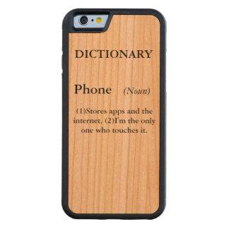 Capa de telefone do dicionário capa de cereja bumper para iPhone 6