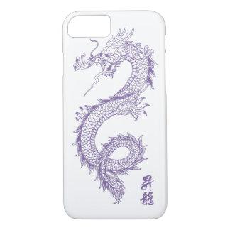 capa de telefone do dragão do roxo do iPhone 7