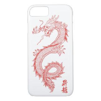 capa de telefone do dragão do vermelho do iPhone 7