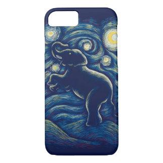Capa de telefone do elefante da noite estrelado