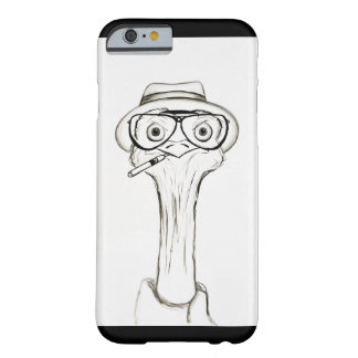 Capa de telefone do esboço da avestruz capa barely there para iPhone 6