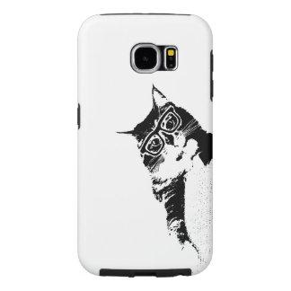 Capa de telefone do gatinho do hipster