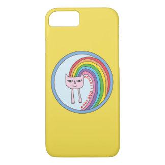 Capa de telefone do gato do arco-íris