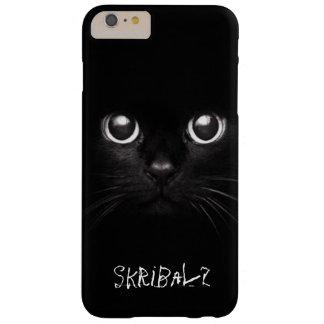 Capa de telefone do gato preto