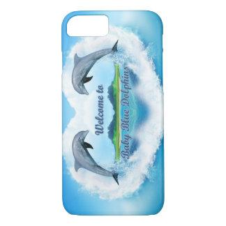 Capa de telefone do golfinho dos azuis bebés