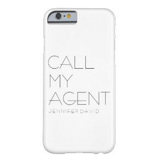 capa de telefone do iPHONE 6/6S (CHAME MEU AGENTE)