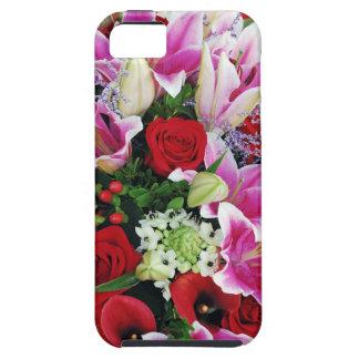 Capa de telefone do lírio e do impressão floral