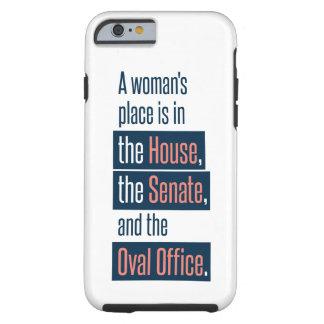 Capa de telefone do lugar de uma mulher