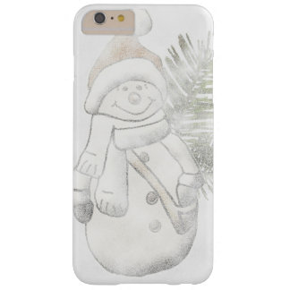 Capas iPhone 6 Plus Barely There Capa de telefone do Natal do boneco de neve