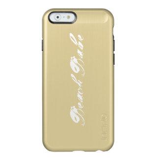 Capa de telefone do ouro do borracho da praia capa incipio feather® shine para iPhone 6