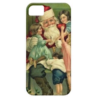 Capa de telefone do papai noel e das crianças do capas para iPhone 5