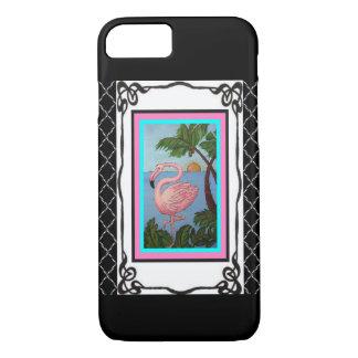 Capa de telefone do paraíso dois do flamingo