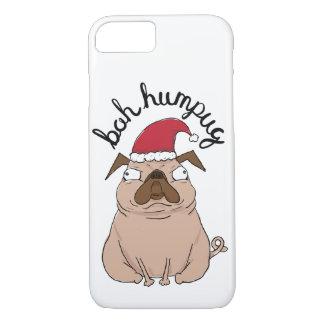 Capa de telefone do Pug do papai noel do Natal de