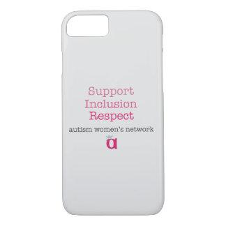 Capa de telefone do respeito da inclusão do apoio