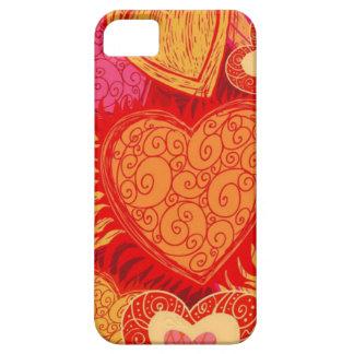 Capa de telefone do vintage dos corações capas para iPhone 5