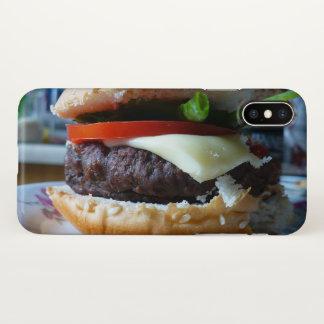 capa de telefone do X-em-um-Hamburger do iPhone