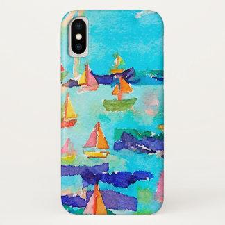 Capa de telefone dos barcos do Watercolour