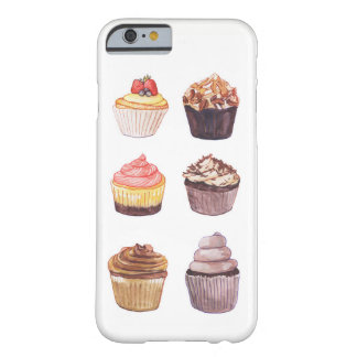 Capa de telefone dos cupcakes da aguarela