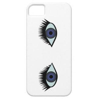 Capa de telefone dos olhos azuis