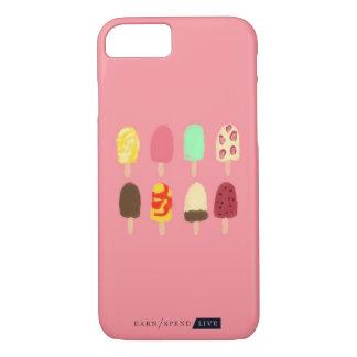 Capa de telefone dos Popsicles do verão