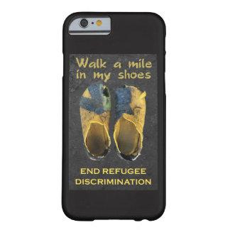 Capa de telefone dos refugiados do apoio