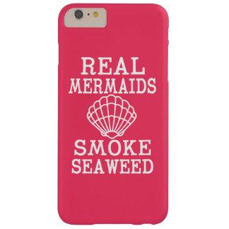 Capa de telefone engraçada da alga real do fumo