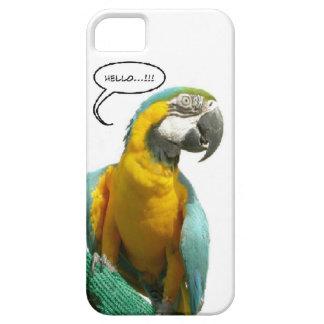 Capa de telefone engraçada do papagaio de fala capa barely there para iPhone 5