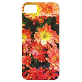 Capa de telefone floral alaranjada