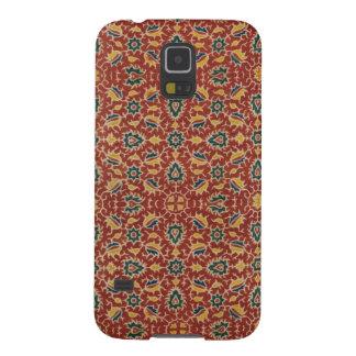 Capa de telefone floral antiga de matéria têxtil