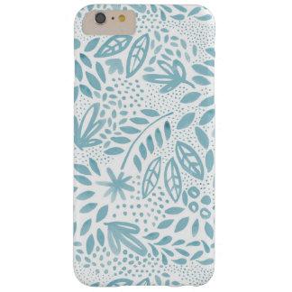 Capas iPhone 6 Plus Barely There Capa de telefone floral azul do Belle