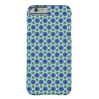 Capa de telefone floral azul do teste padrão