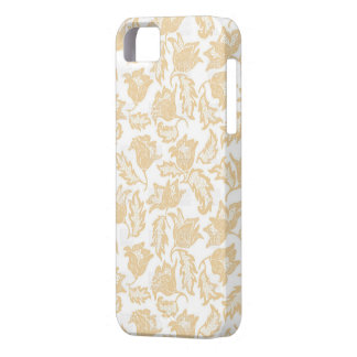Capa de telefone floral bege do vintage capa barely there para iPhone 5