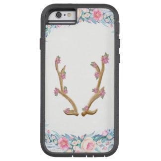 Capa de telefone floral bonito do Antler dos alces