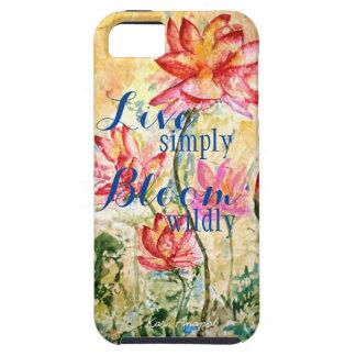 Capa de telefone floral cor-de-rosa da arte da