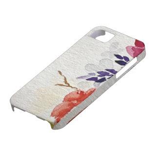 Capa de telefone floral da aguarela