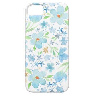 Capa de telefone floral da aguarela azul capas para iPhone 5