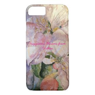 Capa de telefone floral da arte da aguarela da
