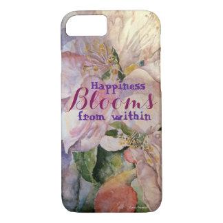 Capa de telefone floral da arte da felicidade