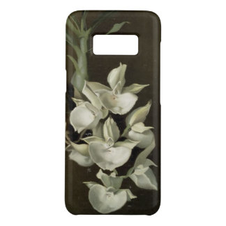 Capa de telefone floral da arte da orquídea branca