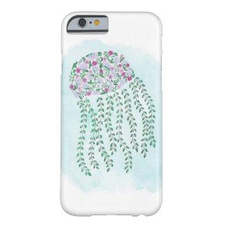 Capa de telefone floral das medusa da aguarela