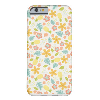 Capa de telefone floral do abacaxi capa barely there para iPhone 6