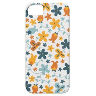 Capa de telefone floral do fechamento capas para iPhone 5