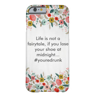 Capa de telefone floral do humor capa barely there para iPhone 6