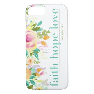Capa de telefone floral do iPhone 7 do amor | da