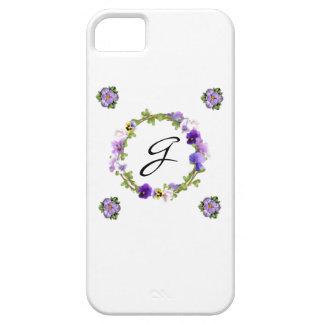 Capa de telefone floral do monograma capa para iPhone 5