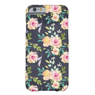 Capa de telefone floral do pêssego e do marinho