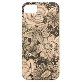 Capa de telefone floral do Pointillism