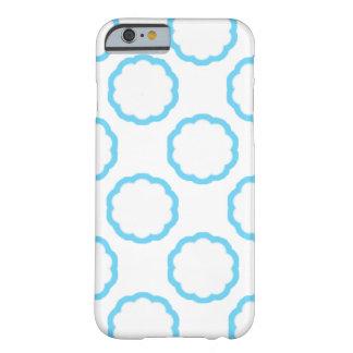 Capa de telefone floral esboçada azul