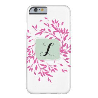 Capa de telefone floral Monogrammed